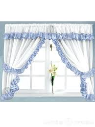 Cherry Kitchen Curtains by Blue And White Kitchen Curtains Home Design Ideas And Pictures