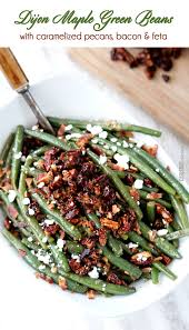 roasted green beans with cremini bacon sauce