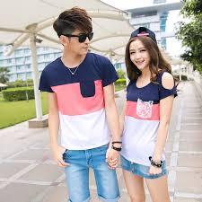 Bench Couple Shirt - image gallery korean couple