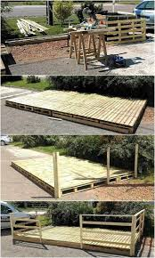 Patio Furniture Using Pallets by Best 25 Pallet Patio Decks Ideas On Pinterest Wooden Patios