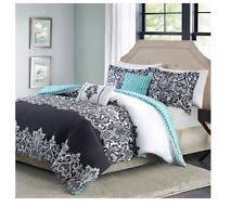 Blue And White Comforters Black And White Damask Bedding Ebay