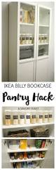 Ikea Kitchen Idea No Pantry Here U0027s How To Use An Ikea Billy Bookcase To Make A