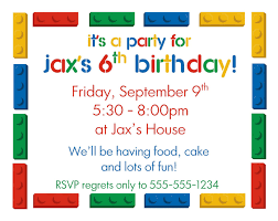 Birthday Cards Invitations Printable Lego Birthday Party Invitations Printable Cimvitation