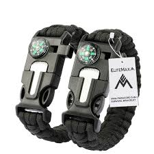survival bracelet survival kit images Elitemax 5 in 1 outdoor paracord survival kit black jpg