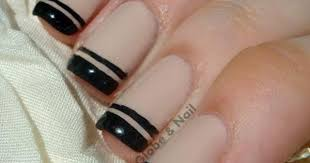 48 tremendous black french tip nails art designs styles u0026 ideas