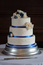 Royal Blue And Silver Wedding Royal Blue U0026 Silver Rose Wedding Cake U2013 Chalming Cake Designs