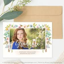 high school graduation announcement senior photo card templates for photographers senior photoshop