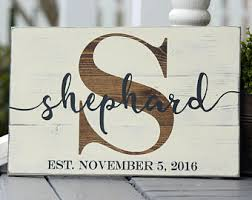 wedding gift name sign painted wood signs for gifts and rustic by sweetsignsoflife