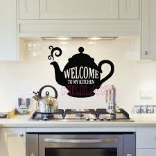 vinyl mural cuisine stickers cuisine vinyl wall decals welcome to my kitchen removable