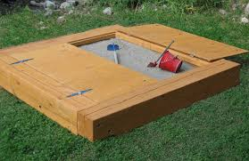 Badger Basket Covered Convertible Cedar Sandbox With Two Bench Seats Covered Sandboxes Not Sure Cover Would Work But Not As Heavy As A