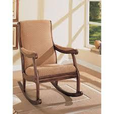 wood oak rocking chairs nursery rustic wooden upholstered rocker