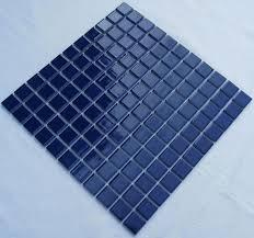 Bathroom Tile Glaze Glazed Porcelain Square Mosaic Tiles Design Blue Ceramic Tile