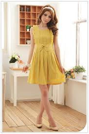 asia fashion wholesale asia clothing wholesale jk women dress k8408 yellow k8408 4 99