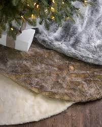 faux fur tree skirt lodge faux fur tree skirt balsam hill