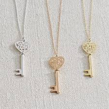 Monogram Key Necklace 14 Best The Perfect Necklace Images On Pinterest Heart Necklaces