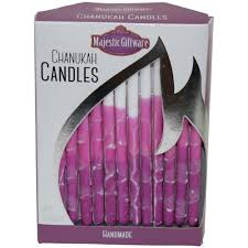 where can i buy hanukkah candles gifts hanukkah pink purple white hanukkah candles