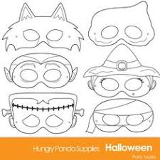 halloween masks print color classroom halloween party