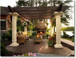 add a outdoor room to home roman columns add some serious grandeur to this outdoor room