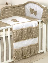 Cot Bumper Sets Luxury Baby Cot Bed Cotton Sateen Bedding Set Canopy Drape