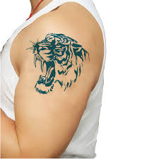temporary tattoos large tiger arm transfer