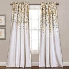 yellow and gray curtains wayfair