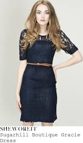 sheworeit billie faiers u0027 sugarhill boutique gracie navy blue lace