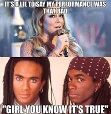 Mariah Carey Meme - milli vanilli mariah carey new year s eve performance fail