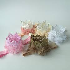 felt headbands multi colors mini felt glitter lace crown headbands with pretty