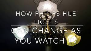 how philips hue smart bulbs can change colors as you watch tv