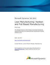 microsoft dynamics ax 2012 lean manufacturing kanban and pull