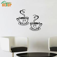 coffee wall stickers reviews online shopping coffee wall double coffee cups wall stickers room decoration vinyl art wall decals adhesive stickers on the kitchen