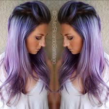 smoked metallic periwinkle she wanted her hair a little darker