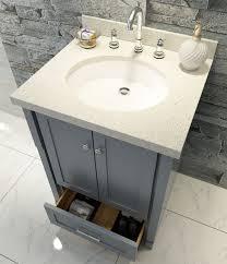 Bathroom Single Sink Vanities by Adams 25 Inch Grey Single Sink Vanity And Mirror