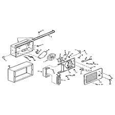 fan forced wall heater parts nautilus fan forced wall heater parts model n184 sears partsdirect