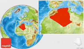 algeria physical map physical location map of algeria