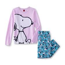 peanuts by schulz s fleece pajama top