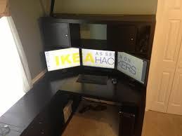 Oak Corner Computer Desk With Hutch by Black Wood Corner Computer Desk Furniture Wonderful L Shaped