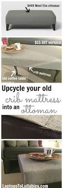 How To Make A Crib Mattress Ottoman Made From Coffee Table And Crib Mattress A Few