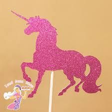 unicorn cake topper pink glitter unicorn cake topper iced jems shop