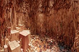 a sculptural forest made from 10 000 species of trees