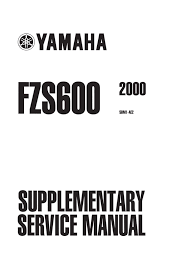 fzs600 2000 supplement to service repair manual switch