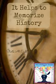 it helps to memorize history lists u0026 resources for history