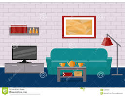living room flat interior vector graphic stock vector image