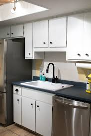 Kitchen Sink Paint by How To Paint Kitchen Cabinets Sarah Hearts