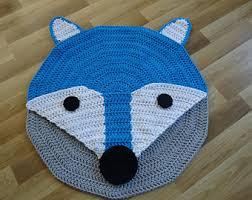 kinderzimmer teppich rund gray handmade cotton chunky crochet rug in doily frame