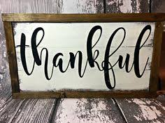 thanksgiving sign thankful and blessed sign home decor christmas decor