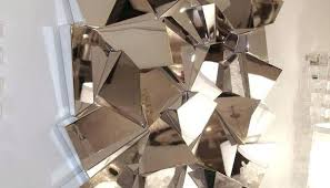 Mesmerizing Chrome Wall Decor In Conjunction With Manificent