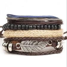 leather bracelet wristband images New men 39 s braided leather bracelet wristband jawely jpg