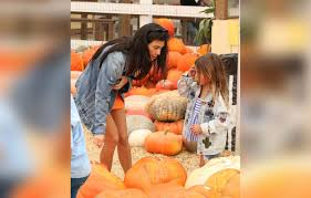 kourtney kardashian wears the skimpiest dress at the pumpkin patch