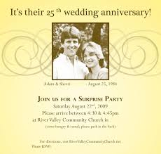 Rsvp Invitation Card Marriage Anniversary Invitation Card 25 Marriage Anniversary